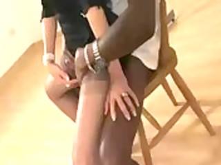 aged stocking femdom irrumation