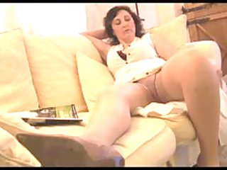 breasty aged milf panty tease and striptease
