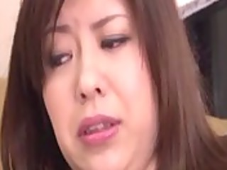 asian milf plays with anal beads