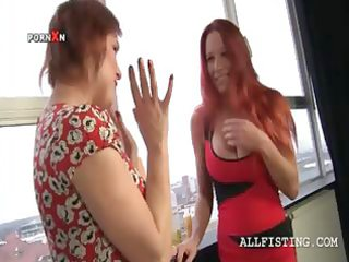 breasty lesbo matures oiling scones and giving a