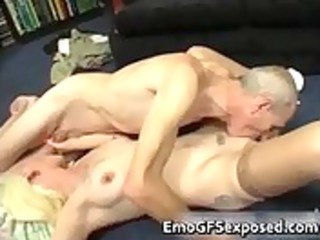 old papy screwing youthful tattooed wife