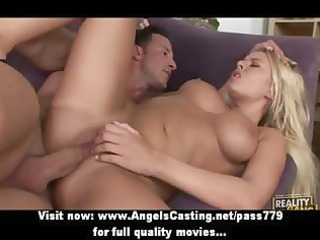 swinger foursome with golden-haired wives drilled