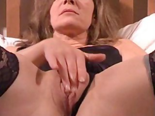 older wife is getting filmed by hubby rubbing and