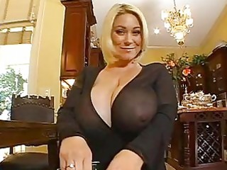 enormous chested blond momma doing a pov