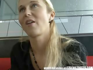 czech streets - blond d like to fuck picked up on
