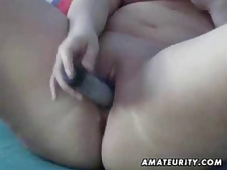 overweight dilettante wife toys, sucks and bonks