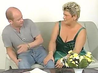 chunky older housewife squirms