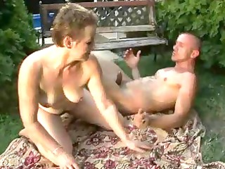 lusty hairy granny enjoying sex with a guy