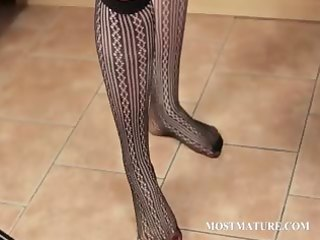 big beautiful woman aged teases her hot assets