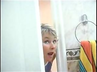 mamma spying on son will he is was in shower than