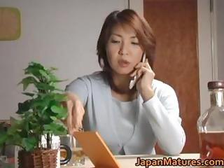 excited japanese older sweethearts engulfing