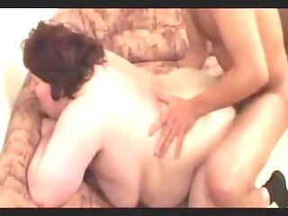 Unshaved plump granny