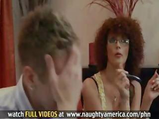 redheaded d like to fuck takes massive facial