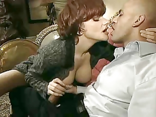 hot french aged cougar in heels sex on daybed