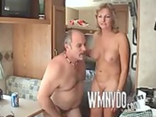 group sex in the trailer, blond group brunette