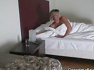 Hot threesome with mature babe