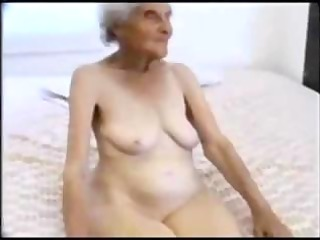88 years old granny engulfing