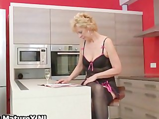 blond older wife in darksome stockings part0
