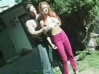 outdoor sport with breasty redhead mother i