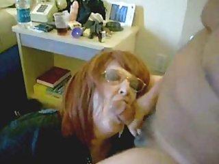 pervert wife drinking my cum. home clip