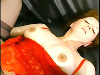 older redhead takes anal and facial.