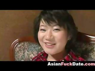 oriental milf with a large smile acquires toyed