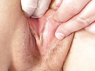 chunky granny doxy gets her bald love tunnel