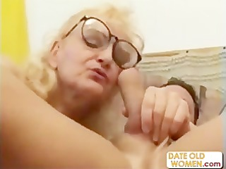 big glasses exotic grandmother