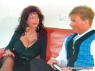 nice-looking mega boobed aged bitch acquires