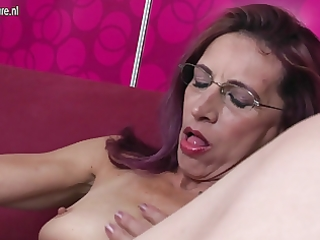 old slender mother loves anal and love tunnel play