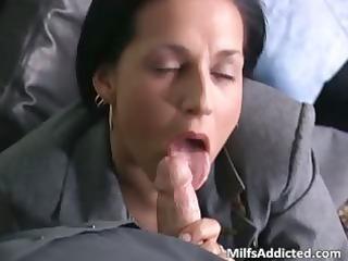 slutty brunette milf secretary acquires wet part8