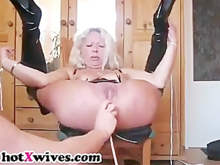 perverted wife receives butt fisted hard and