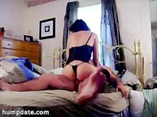 lascivious non-professional wife rides hubbys