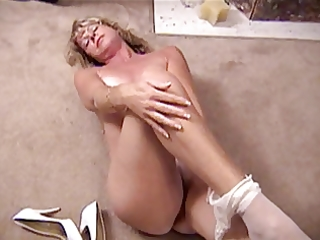 mother i in white and tan hose