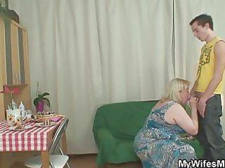 naughty birthday joy with her mommy