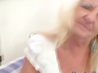 drunk golden-haired granny in hawt trio fuckfest