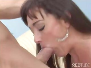 brunette mama blows and receives screwed by her