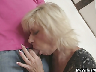 she is leaves and mother in law seduces him