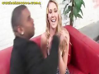 blond wife engulfing dark meat