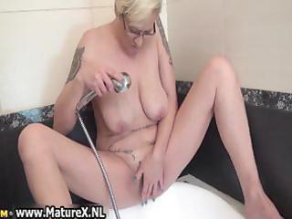 tattooed older housewife playing part11