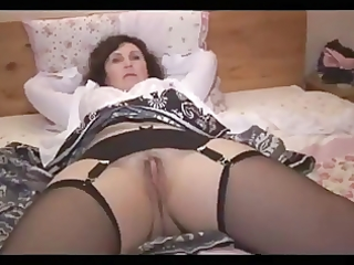 older undresses and shows her a-hole