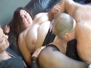 chubby, mature ladies in a some take turns