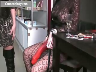 perverted milf fucking fellow with strap part8