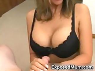 sexy mum with massive juggs sucks rigid pounder
