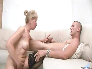hot blond granny receives a younger fellows