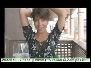 bonaja marvelous brunette hair milf with short