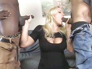 breasty mother i acquires double group-fucked by