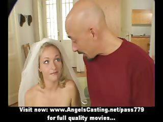 superb hawt dilettante golden-haired wife talking