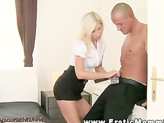 blonde mama makes love to her husband