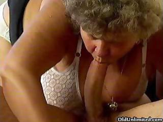 sexually excited grandma likes engulfing some